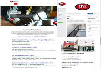 Proyecto Carpinteriametalicacorrea.es