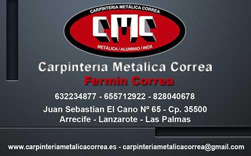 Diseño de Tarjetas de Presentación, Catálogos y Folletos para Carpintería Metálica Correa