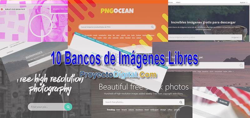 10 Bancos de Imágenes Libres