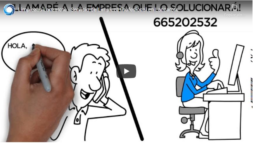video promocional Limpiezas Lanzarote